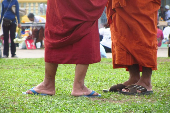 Monk feet in Phnom Penh.