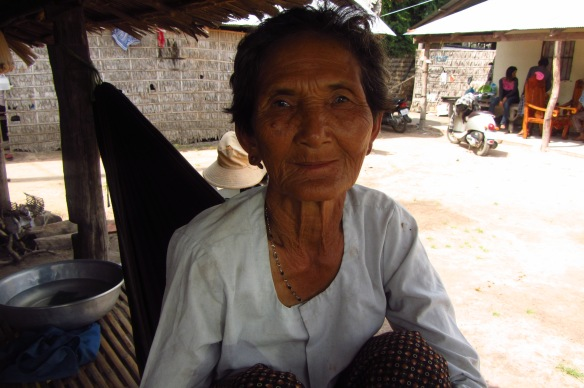 A very friendly old woman at the medical clinic in Kampong Speu.