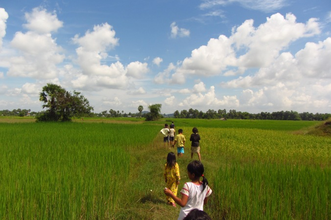 Some APCA kids playing in the rice paddies across the street from the center. It's an alright front yard to explore.