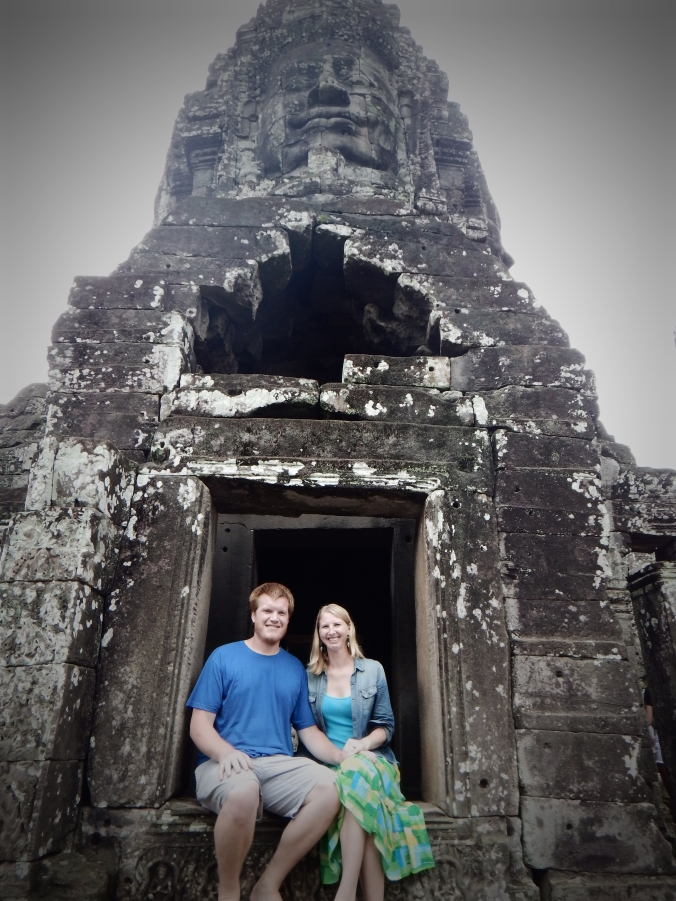 Chillin' at Bayon Temple in Siem Reap.
