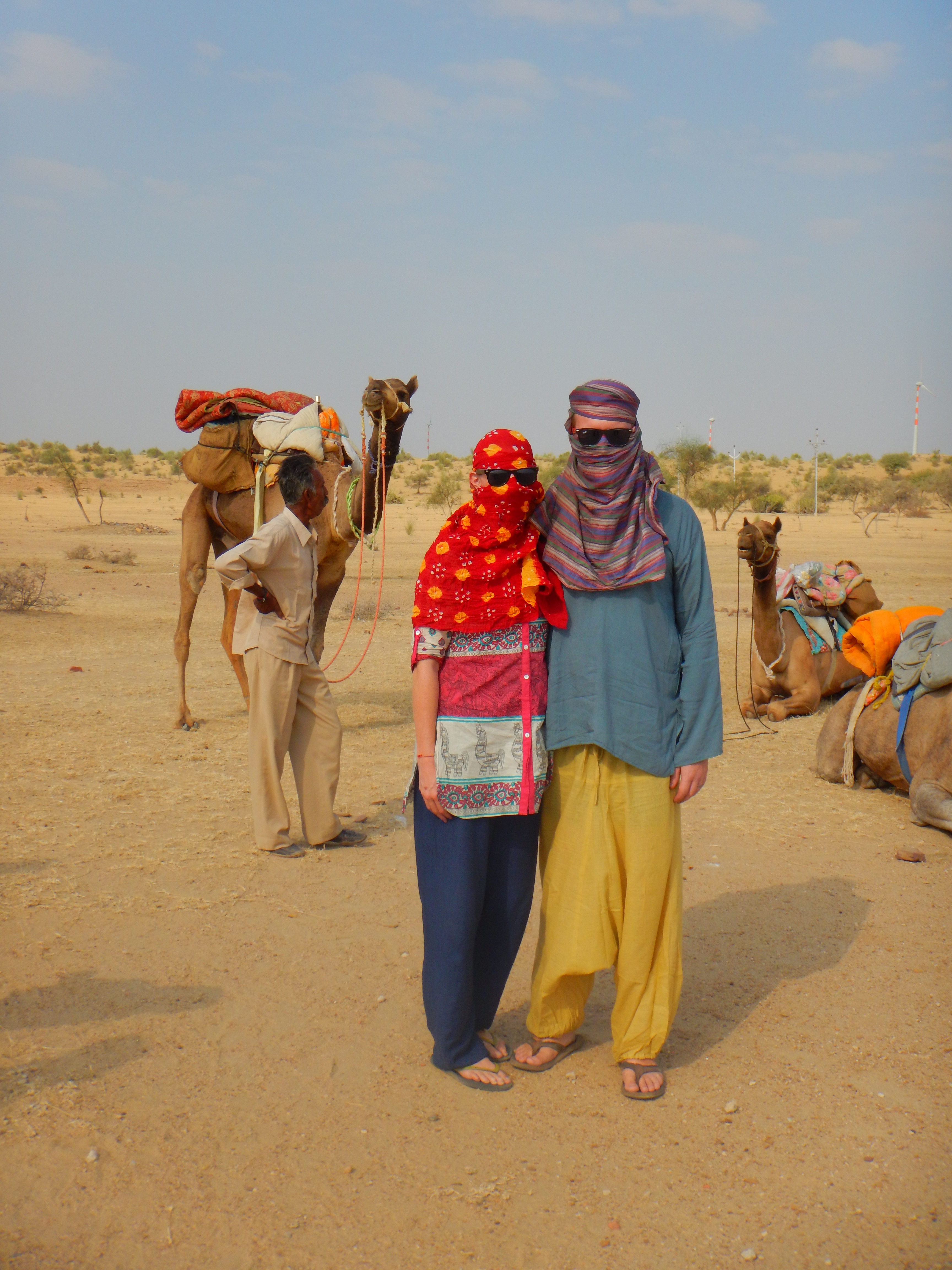 Do you like our camel safari get-ups? It was hot out there!