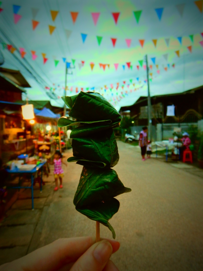 The strong, pungent flavors of Thailand in tiny bundles on a stick.