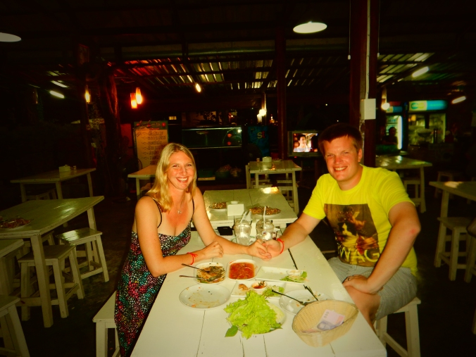 Our 1 year wedding anniversary dinner in Bangkok.